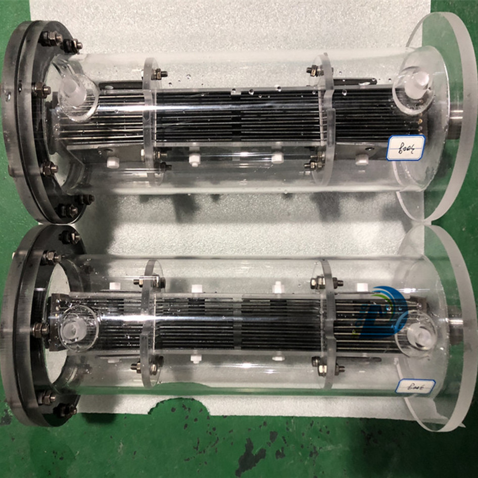 titanium electrolyzer for disinfection of drinking water in rural areas
